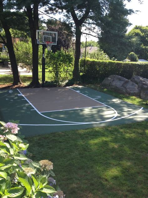 backyard court best 25 backyard basketball court ideas on