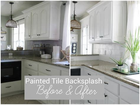 paint kitchen backsplash i painted our kitchen tile backsplash the wicker house
