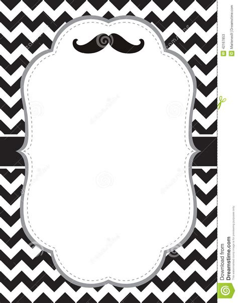 mustache card stock vector image 42167853