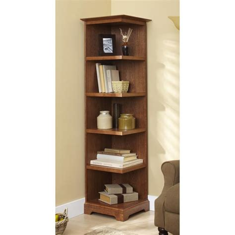 corner bookshelves corner bookcase woodworking plan from wood magazine