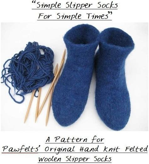 how to felt knitting by felted diy knit slipper socks pattern pdf tutorial instant