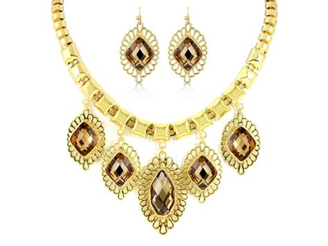 fancy for jewelry gold plated chagne fancy jewelry set sellout woot