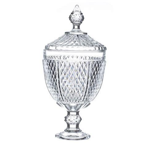 bonbonni 232 re en verre quot diamant quot 34cm transparent