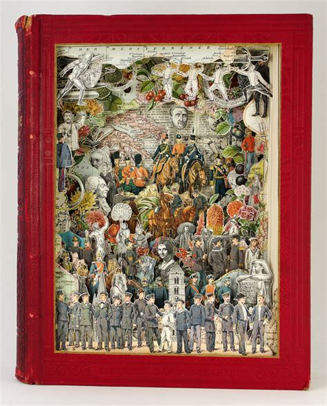 picture collage book new sculptural collages made from antiquarian books by
