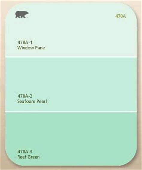 Paint Chip Window Pane Seafoam Pearl Reef Green By