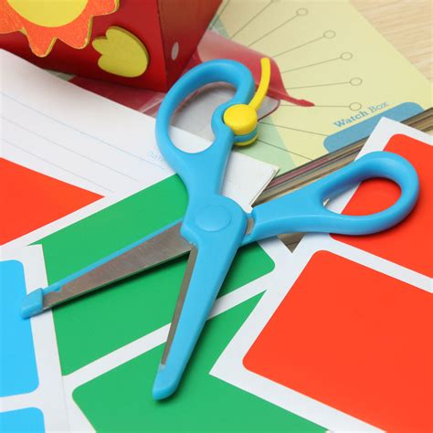 crafts with paper and scissors 2pcs safety paper cutting scissors diy craft card