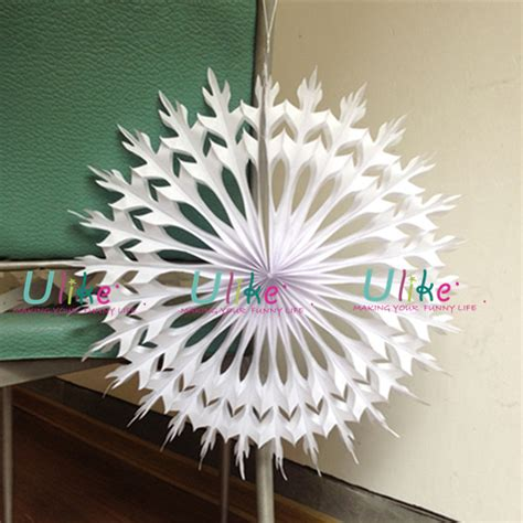 buy paper snowflake decorations new style white 3d snowflake tree decorations