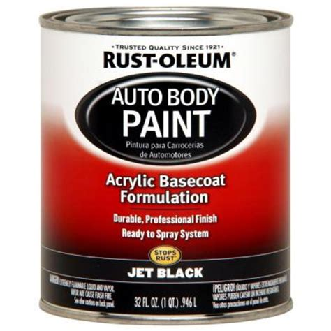 home depot paint quart rust oleum automotive 1 qt auto jet black paint