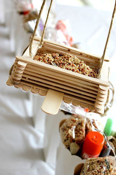bird feeder crafts for craft stick bird feeder crafts