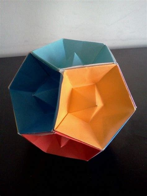 origami dodecahedron patterns design and origami on