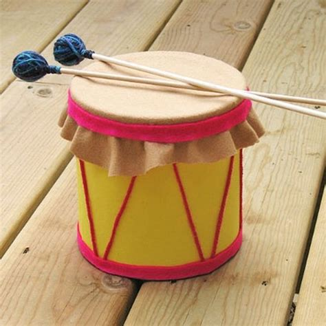 drum craft for how to use recyclable containers to make drum