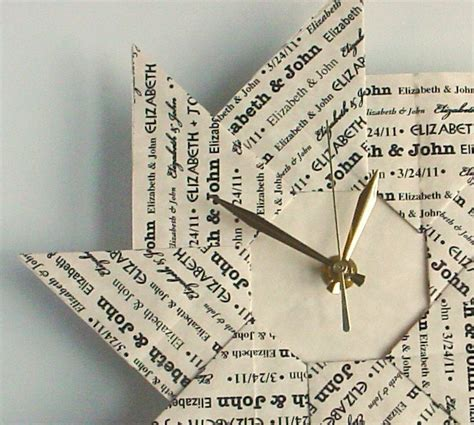 how to make an origami clock personalized 1st anniversary gift custom origami clock