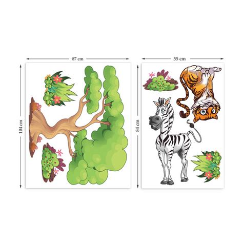 Large Childrens Wall Stickers childrens jungle animals wall stickers by the binary box