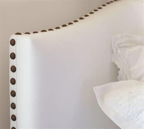 nailhead headboard raleigh upholstered nailhead camelback bed