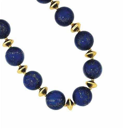 lapis lazuli bead necklace a lapis lazuli bead necklace christie s