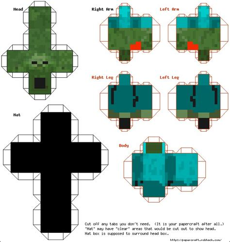 minecraft crafting paper paper crafts template minecraft skins