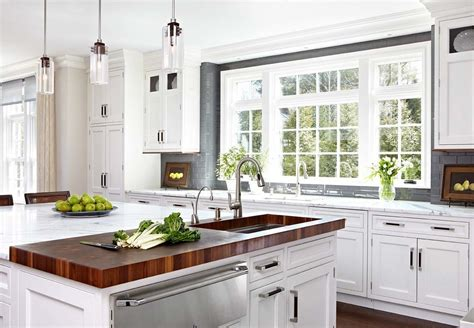 white kitchen cabinets with butcher block countertops butcher block countertops kitchen rustic with black