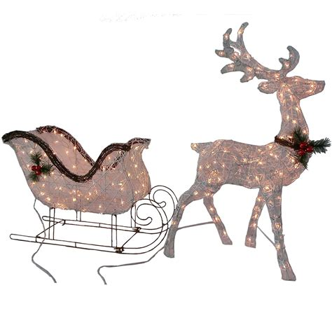 lighted reindeer outdoor patio lawn garden gifts library