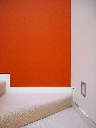 modern interior wall color orange