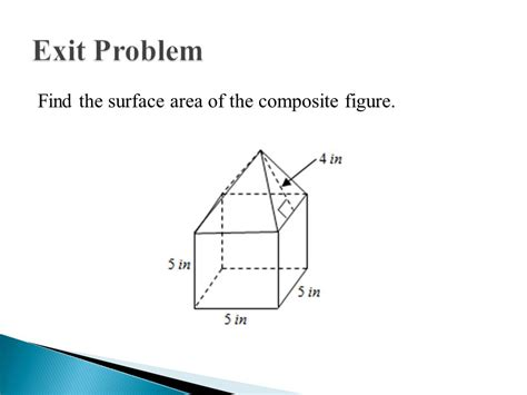 the area surface area of composite solids ppt