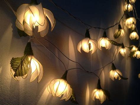 flower string lights for bedroom 20 white tone ylang ylang flower string lights