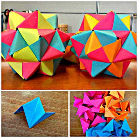 origami post it notes post it origami icosahedron