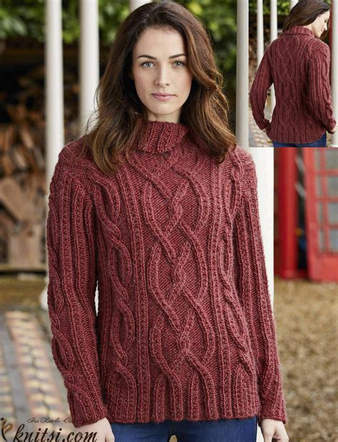 knitted jumpers free pattern cable knit jumper pattern