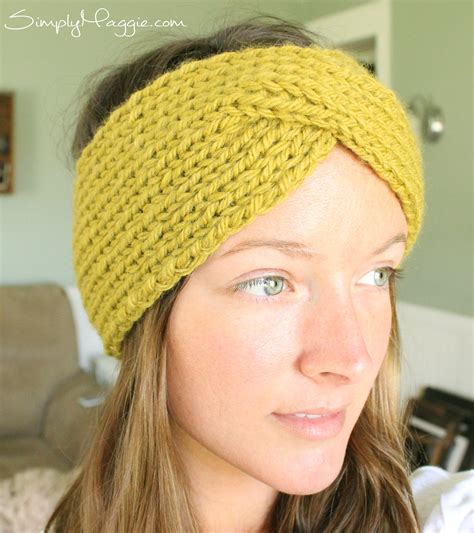 knitting patterns for headbands turban style knit headband simplymaggie