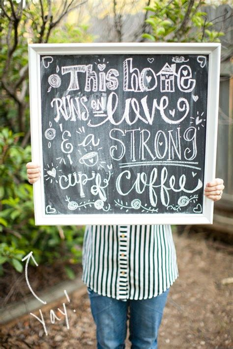 chalkboard diy signs chalk board sign quote diy crafts quotes