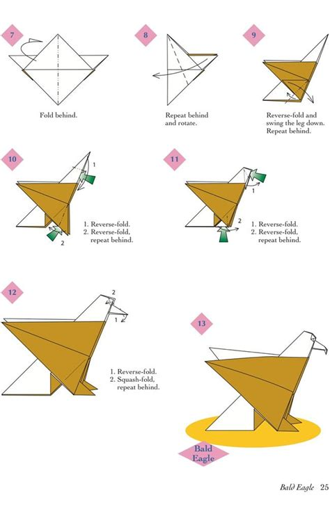 simple animal origami easy origami animals page 6 of 6 bald eagle 2 of 2