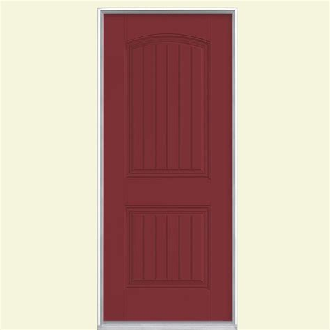 solid exterior door home depot masonite 32 in x 80 in cheyenne 2 panel painted smooth