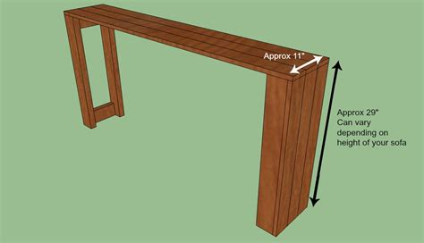 sofa table plans sofa table plans woodworking images