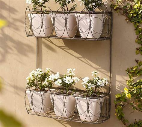 garden wall planter garden wall planters metal interesting ideas for home