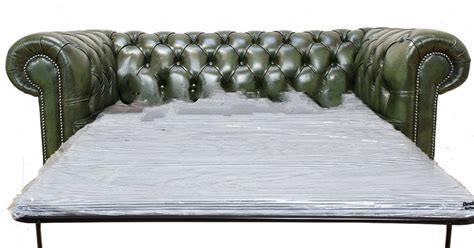 green sofa bed buy green leather chesterfield sofa bed designersofas4u