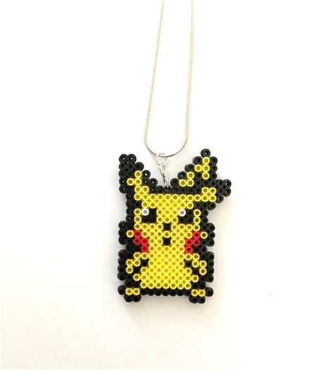 perler bead jewelry patterns pikachu perler bead necklace perler bead