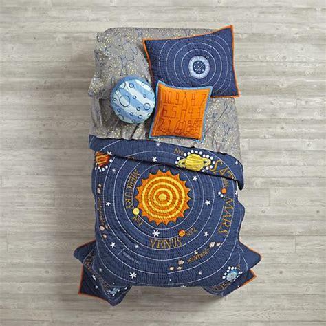 solar system bedding set blue solar system bedding the land of nod