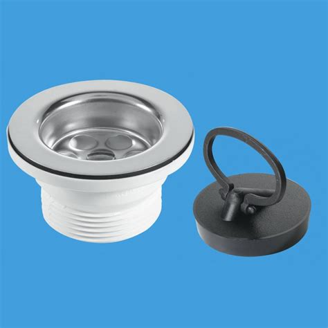 fitting kitchen sink waste mcalpine bsw6pr 1 1 2 x 85mm flange sink waste outlets