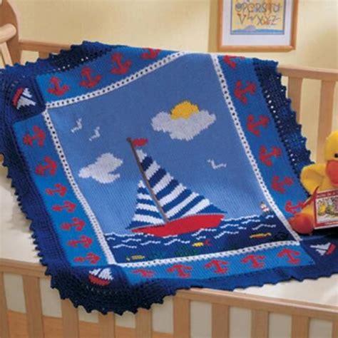 nautical blanket knitting pattern sail away afghan free crochet baby blankets 8