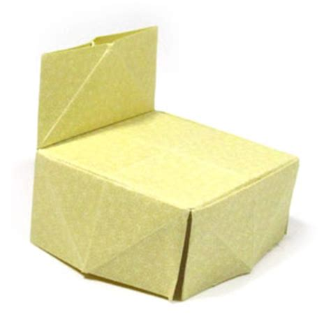 how to make an origami chair how to make a traditional origami chair page 1