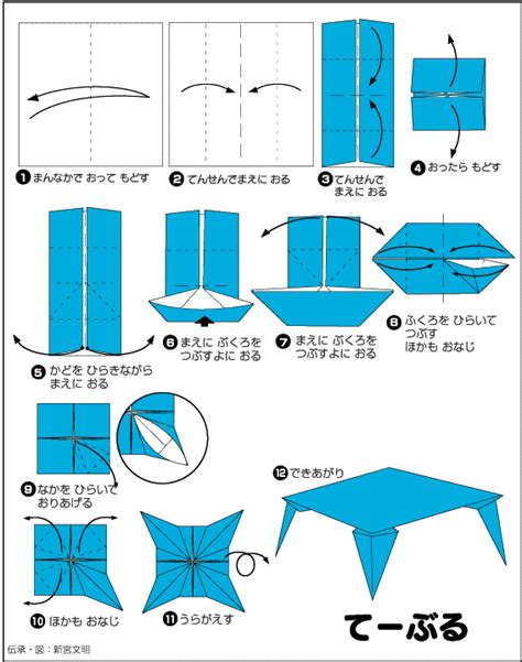 how to make origami table extremegami how to make a origami table