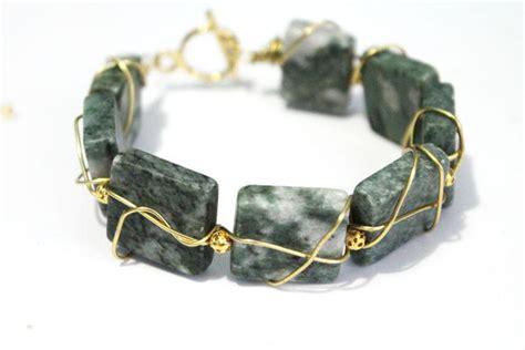how to make metal st jewelry easy wire wrapped gemstone bracelet allfreejewelrymaking