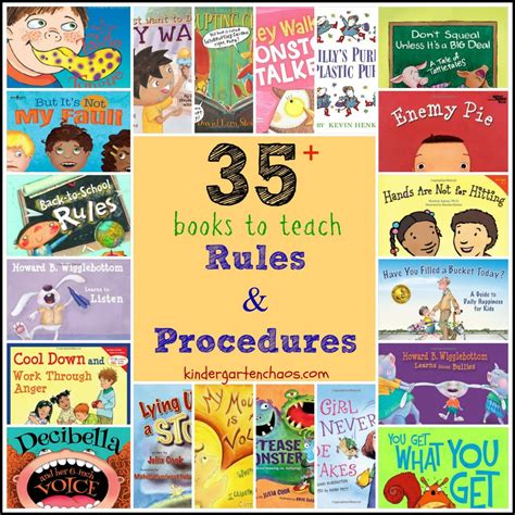 using picture books to teach books to help teach classroom and procedures