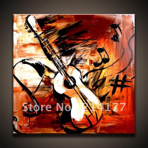 whole painting free shipping 100 handpmade abstract guitar canvas