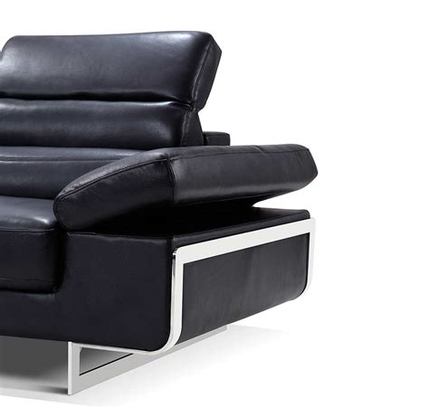 modern sofas sectionals modern black leather sectional sofa ef347 leather sectionals