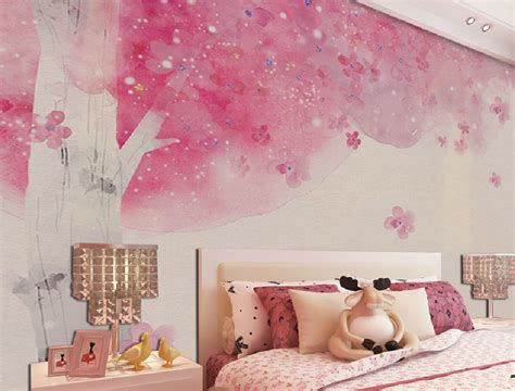 pink wallpaper for bedroom hd showing bedroom with light green environmental