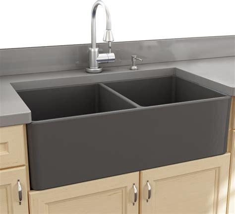 farm sinks kitchen nantucket sinks 33 bowl gray fireclay farmhouse