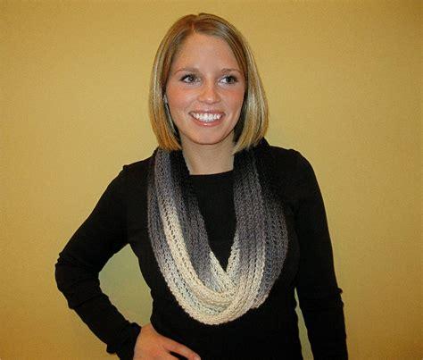 striped infinity scarf knitting pattern stripedinfinity knit purl
