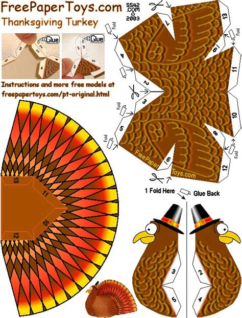 thanksgiving paper crafts for best photos of turkey 3d cut out template printable