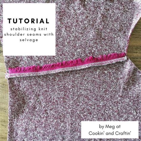sewing shoulder seams in knitting cookin craftin tutorial stabilize knit shoulder
