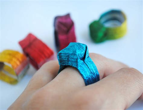 origami paper craft zakka craft origami paper ring